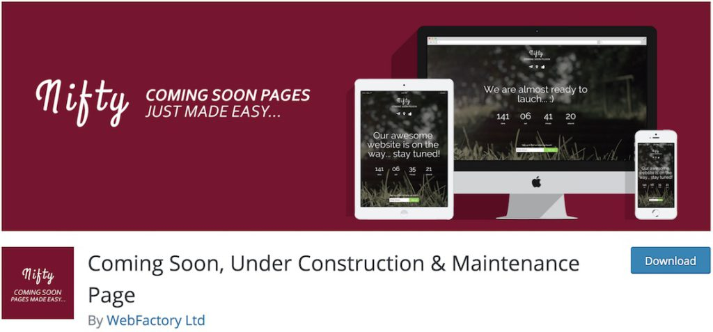 Coming Soon & Maintenance Mode by Colorlib